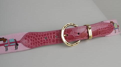 AA-Pinnell-Womens-Needlepoint-w-Lizard-leather-and-brass-buckle