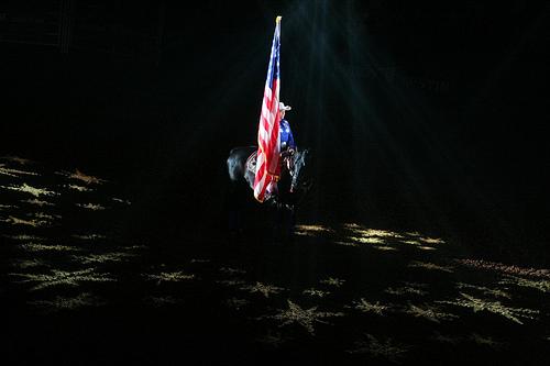 Rodeo Austin American Flag