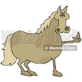 17614-pissed-brown-horse-flipping-off-a-farmer-after-not-being-fed-his-oats-clipart-illustration-by-dennis-cox-at-wackystock