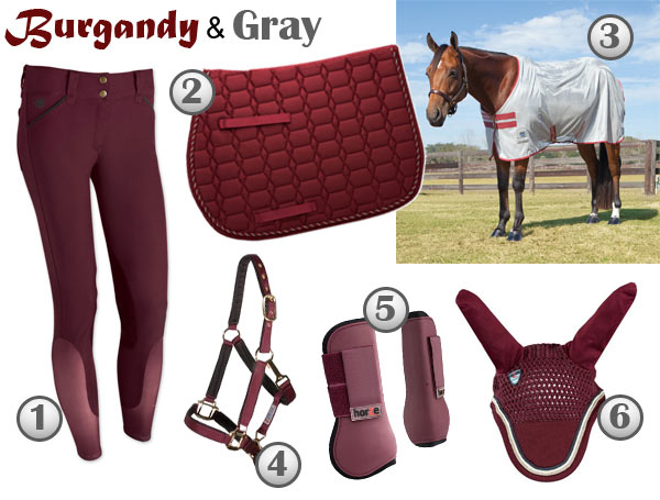burgandy-gray-equestrian-products