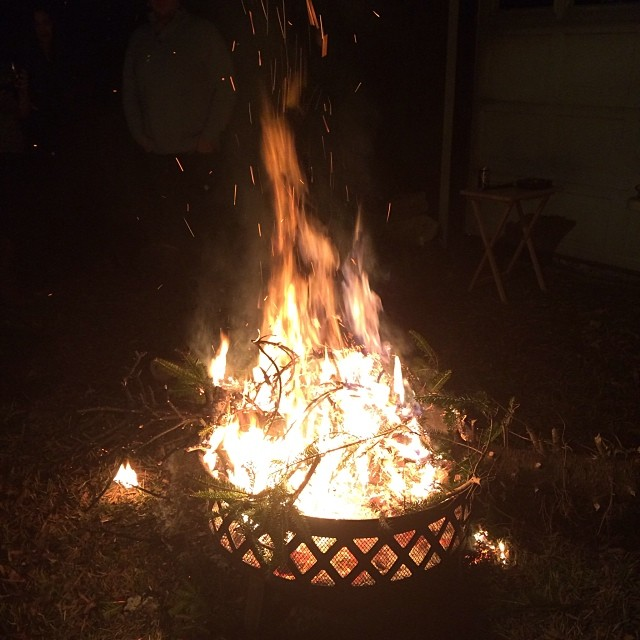 Our tradition of burning Christmas trees