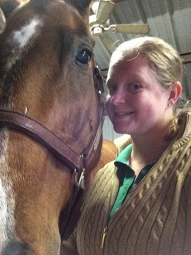 Post ride sweaty selfie with Simon!