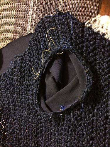 Inside of bonnet