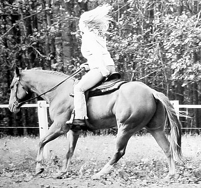 When I first got my Western saddle, 2002?