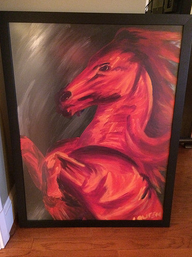 I call this 'giant red horse with tiny legs'... one of my favorites
