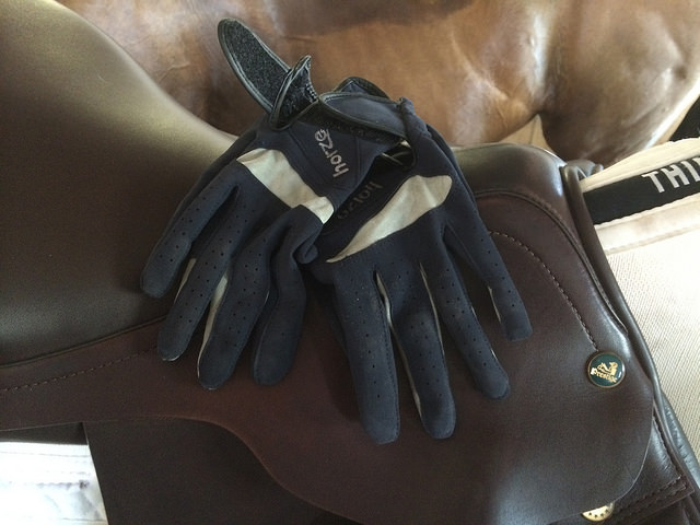 My gloves.  The silver fabric is the breathable part!