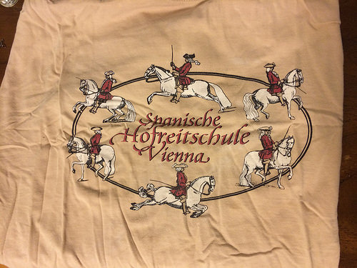 Spanish Riding School t-shirt I picked up during my first trip to Vienna.  It got bonus points for being in German