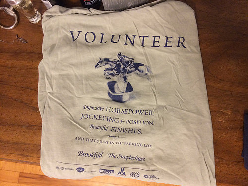 I loved this shirt bc it made me seem very credible as a volunteer :)  I worked the horse ambulance
