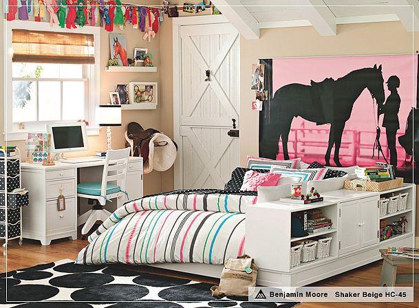 horse-theme-bedroom-design-teen-girl-decor-equestrian-ideas-pink-jockey