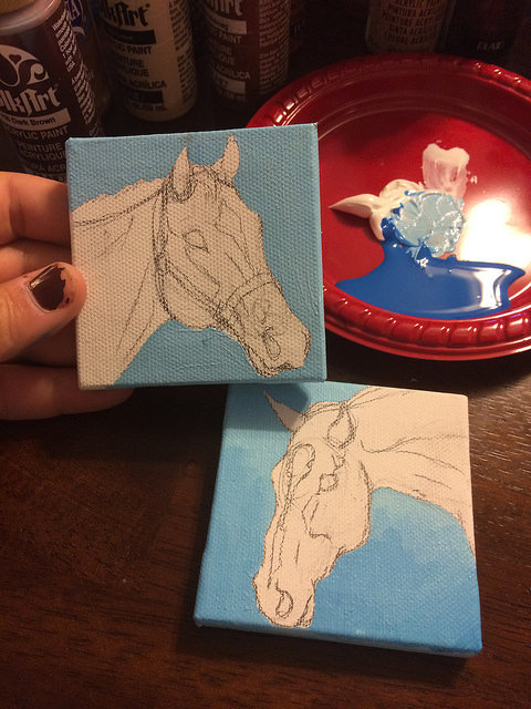Paint all the tiny canvases!