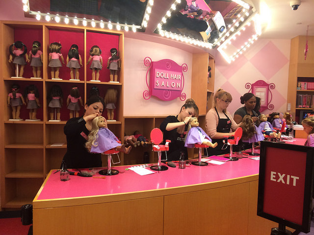 Grown adults doing doll hair all day long