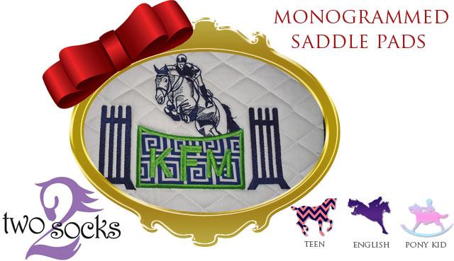two-socks-monogram-saddle-pad