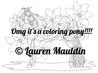 coloring-pony-preview