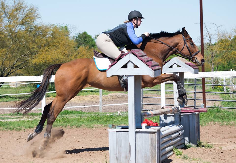 """I'm told this is the eventing ideal but to me it's """"Almost got left behind but kinda sorta saved it... Simon noticed"""". Photo by Heather F"""